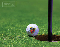 Free Golf Ball Mockup PSD