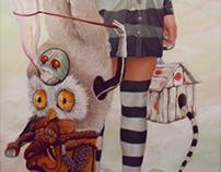 Passion, painting Popsurealist, oil on canvas.