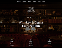 Bar & Books - Website Design