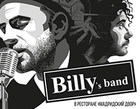 """Poster for the jazz band """"Billy's band"""""""