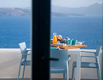 Breakfast in Santorini.