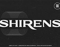 SHIRENS DISPLAY FONT