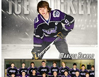 Icehockey sports photography template