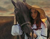 Портрет с лошадью