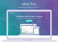 Newsful - Landing page and Finance App Design