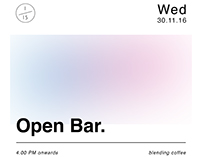 "1/15 coffee ""open bar"""