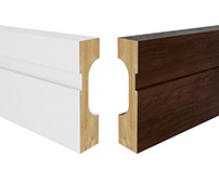 3D CGI Interior Cut Outs Skirting