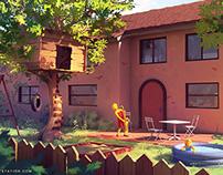 Simpsons Ghibli Style