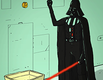 Darth Vader Recycles (animated GIF)