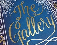 The Gallery - gold foil and untrimmed edges!