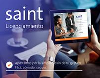 Saint licenciamiento interfaz