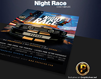 Night Race Flyer Template