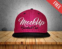 Free Baseball Cap Mock-up in PSD