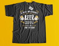 T-Shirt Design Work - Hamza BHM - Beer Drunk Drink tee