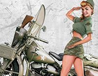 Harley-Davidson Military Branch Gals