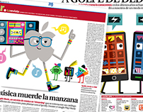 Press illustrations for 20 Minutos