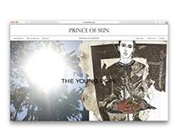 Website design for Prince Of Sun