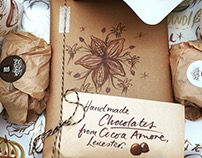 One-off chocolate packaging for a gift via Cocoa Amore