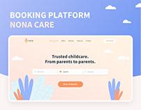 Nona Care - Online booking platform | UX/UI