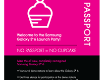 Samsung GS6 Launch Party Print Design
