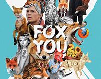 Fox you. Digital collage