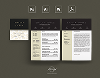Professional Resume Template / Card Template