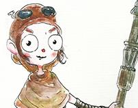 Rey & Bb-8 (Ilustração)
