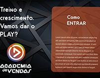 Logo e Key visual: Academia de Vendas, para Call Center