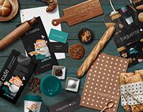 baguette + plus microbakery branding