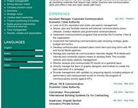 Corporate Communication Resume Example