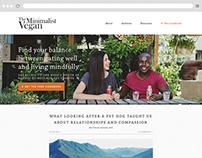 Minimalist Vegan website design