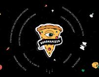 Концепт рекламной компании для пиццерии Buddhapizza
