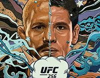 UFC 256 official poster