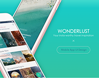 Wonderlust - Mobile App UI Design