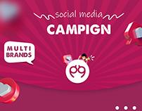 multi brands social media campaign