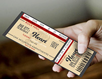 Ticket Stub for the Rock Hall Three-For-All