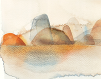 Watercolor illustrations, landscapes
