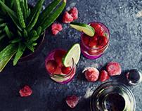Strawberry ice drink