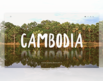 Journey to Cambodia-Travel agency website(FREE .sketch)