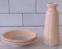 Core: Maple and Concrete Sake Set