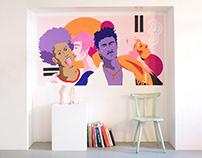Millennial Faces – Mural