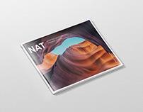 Magazine Mockup - US Letter Landscape