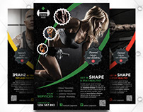 Professional Fitness Flyer Free PSD