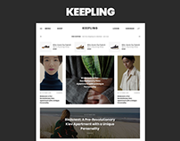 KEEPLING – clean Blog & Magazine template