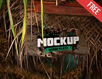 Wood Plate - Free PSD Mockup