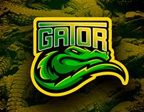 Gator sport logo mascot design for stock