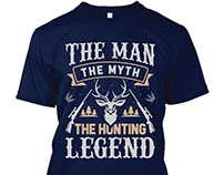 Hunting T-shirt Design ( Free Download - PNG )