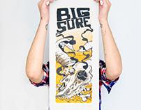 Serigraphie rock poster Bigsure