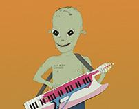 Alien cumbiero | Ilustración