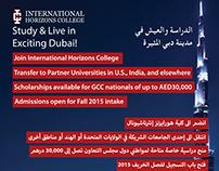 International Horizons College A3 Poster